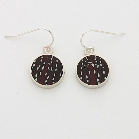 Polymer clay and Sterling Silver Earring