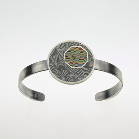 Sterling Silver and Polymer Cuff Bracelet