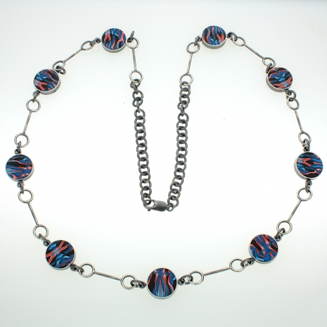 Sterling Silver and Polymer Necklace