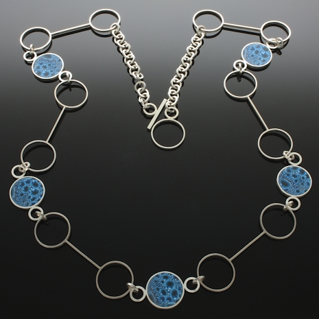 """Sterling Silver """"Bubble"""" necklace"""