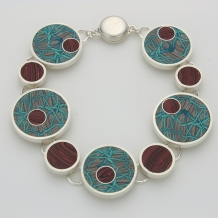 Polymer and Sterling Silver Bracelet