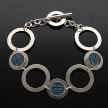 Sterling Silver Washer Link Bracelet