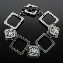 Sterling Silver Square Washer Bracelet